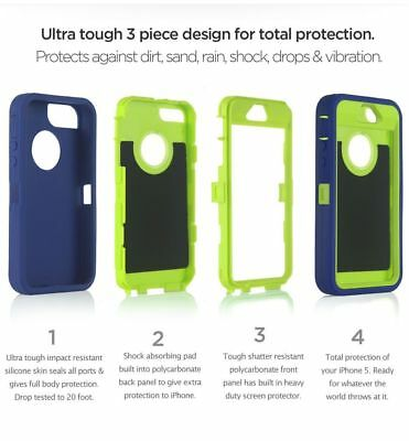 For Apple iPhone SE 5s 5 Case Cover w/ Belt Clip | Fits Otterbox DEFENDER SERIES 2