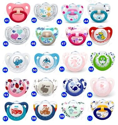 NUK Baby Dummy Pacifier teat / nipple soother Very Colorful free BPA many design 4