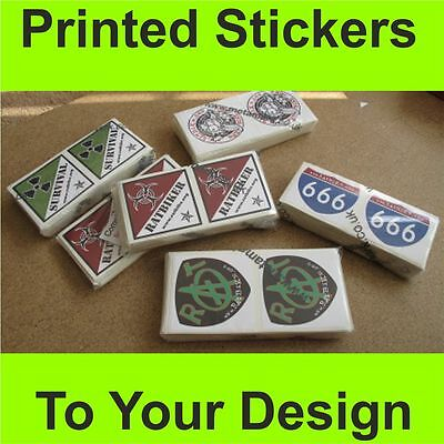 4 of 7 custom printed vinyl stickers trade and business bulk label printing service