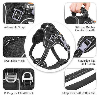 Tactical Dog Excursion K9 Training Patrol Vest Harness, Extra Large-Medium Size 12