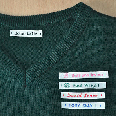 Woven Name Labels Sew In Name Tags For School Childrens Uniform Uk