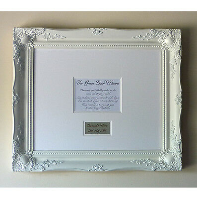 WHITE LUXURY WEDDING Guest Signing Frame – Large Baroque style ...