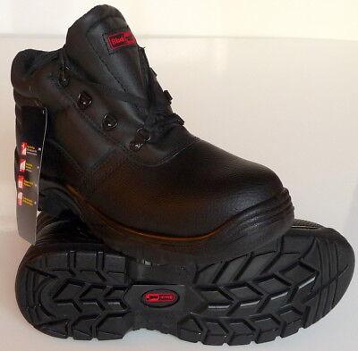 a2ac2df69db6f SAFETY BOOTS WORK Blackrock Black Leather Chukka Steel Toe Cap SF02