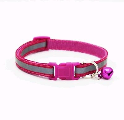 Reflective Dog Cat Kitten Collar Pet Puppy Adjustable Harness with Bell 9