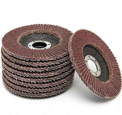 50pcs Abrasive 5''125MM Metal Sanding Flap Disc Angle Grinder 40 Grit AU Stock 6