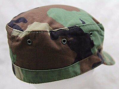 cafc392c711 ... Genuine Us Army Issue Bdu Patrol Cap Hat Woodland Camouflage Ripstop Usa  Made 2