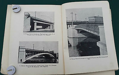 1949 USSR Russia Soviet Architecture BRIDGES and EMBANKMENTS Illustrated Book 6
