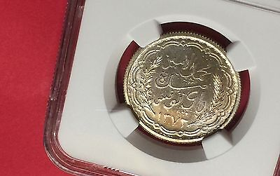 Tunisia Ah1372//1952 Silver 10 Francs Ngc Ms65 Extra Rare! Low Mintage! 5
