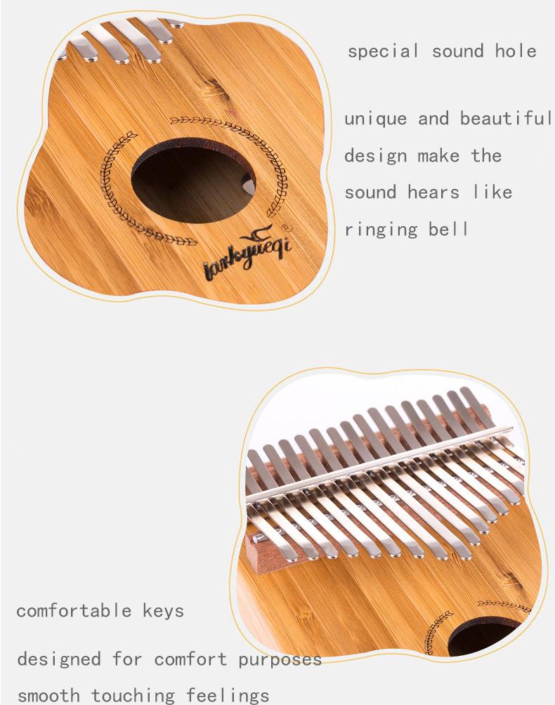 17 Key Kalimba Thumb Piano High-Quality Wood Body Sanza Mbira Musical Instrument 4