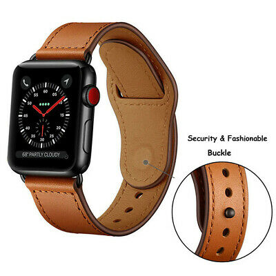 40/44mm Genuine Leather iWatch Strap for Apple Watch Band Series 4 3 2 1 38/42mm 4