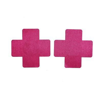 Sexy Téton Croix Rose Noir Autocollant Réutilisable Sein Couvre Mamelon Boob 3