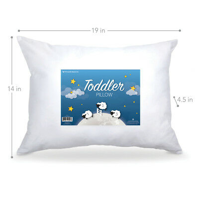 "PharMeDoc Toddler Pillow - Little Pillow for Kids Ages 1-5 - 14"" x 19 inches"