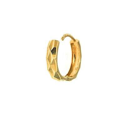 c42e3ed35 ... 14K Solid Yellow Gold Mens Single Huggie Hoop Earring DC 12mm X 2.3mm (1