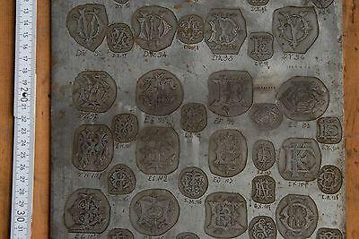 seltene große 2seitige Vorlage Klischee Druckstöcke Galvano Klischees Druckstock 8