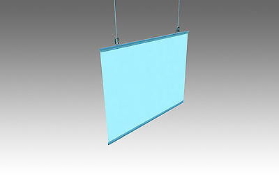 poster hanger WHITE Strips Snaps maps drawings + hanging cord A0 A1 A2 A3 A4 1M