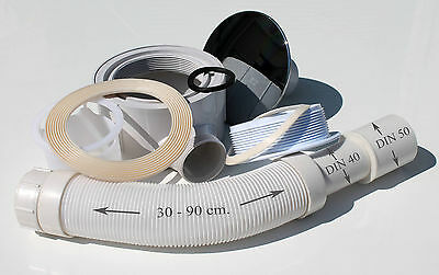 Siphon Ablaufgarnitur Ablauf Badablauf Sifon Duschtasse  90 mm DIN 40/50 B9.05