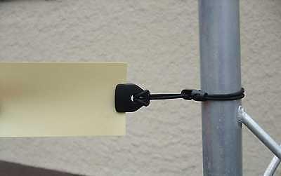 20 x MIDI-Clip Ösen-Planen-Spanner schwarz Ösen-Spannfix-Spannfixe Spannklammer