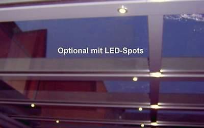 Terrassendach Alu Sonnenschutz-Stegplatten klar Terrassenüberdachung 6 m breit 11