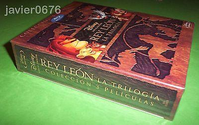 El Rey Leon La Trilogia En Blu-Ray Pack Nuevo Y Precintado Disney 3