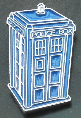 Blue Police Box Tardis Lapel Hat Cap Tie Pin Badge Brooch Gift Souvenir