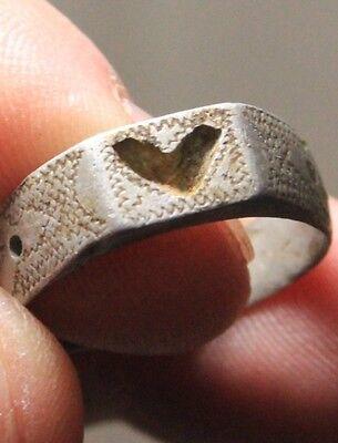 Lot 2 Silver Original ancient ring artifact intact original patina 6.3g 4