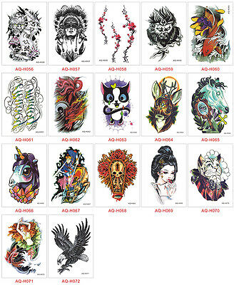 Temporary Tattoo Sticker Removable Waterproof 3D Fake Body Art 21 x 15 cm