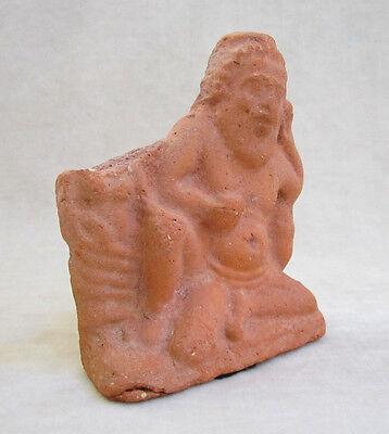 ANCIENT ROMAN/EGYPTIAN TERRACOTTA FIGURE OF THE GOD BES, circa 1st - 2nd Century 3