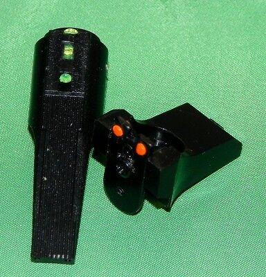 Green Front Sights for Crosman 2240 1322 etc DISCO SCHEME Fiber Optic RED Rear