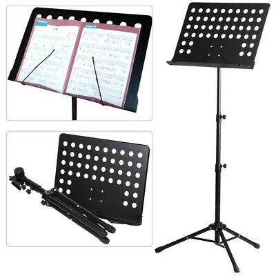 Heavy Duty Foldable Music Stand Conductor Sheet Holder Tripod Base W/Carry Bag 8