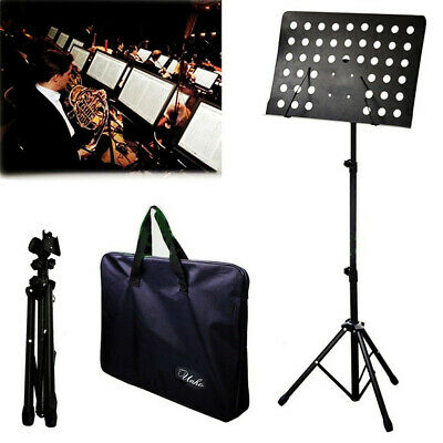 Heavy Duty Foldable Music Stand Conductor Sheet Holder Tripod Base W/Carry Bag 2