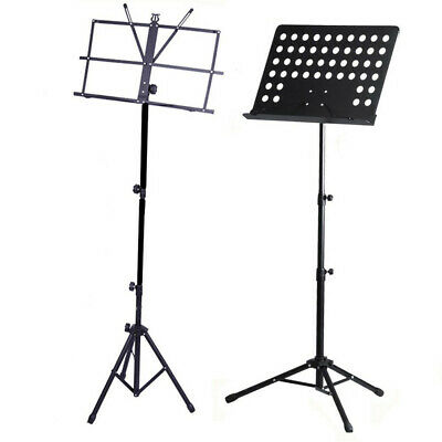Heavy Duty Foldable Music Stand Conductor Sheet Holder Tripod Base W/Carry Bag 3