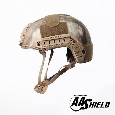 AA Shield Tactical Ballistic Helmet High Cut Bullet Proof Lvl IIIA 3A A-TACS-FG