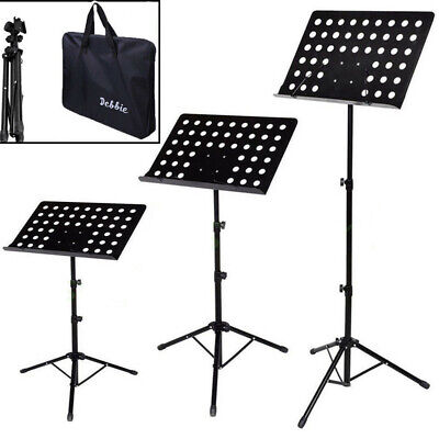 Heavy Duty Foldable Music Stand Conductor Sheet Holder Tripod Base W/Carry Bag 9