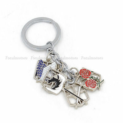 Anime Attack on Titan Keychain Scouting Legion Wings Of Liberty Multi Badge Hot 4