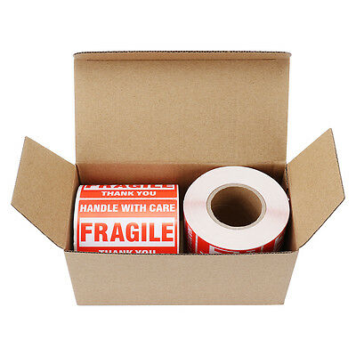 2 Rolls 500/Roll 2x3 Fragile Stickers Handle with Care Thank You Mailing Labels 4