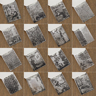 Various Silicone Clear Stamp Transparent Rubber Stamps DIY Scrapbooking Craft 2