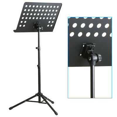 Heavy Duty Foldable Music Stand Conductor Sheet Holder Tripod Base W/Carry Bag 4
