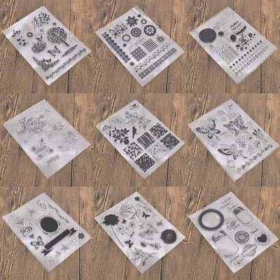 Various Silicone Clear Stamp Transparent Rubber Stamps DIY Scrapbooking Craft 7