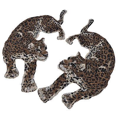 Patches Leopard Panter DIY Aufnäher Kleidung Jeans Flicken Deko 2stk Patch Chic 2