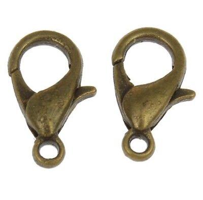 Lobster Clasp Keyring Trigger Clip Key Chain Ring Holder 12mm Hooks Findings UK 5