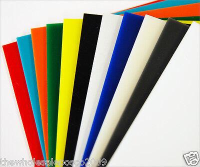 ACRYLIC PERSPEX COLOUR PLASTIC RIGID SHEET 32 DIFFERENT COLOURS A5 A4 A3 3 & 5mm