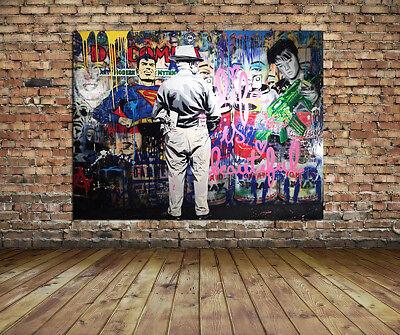 Grafitti Street Art Collage Unique HD CANVAS ART PRINT Pop Art Urbanart 32x24