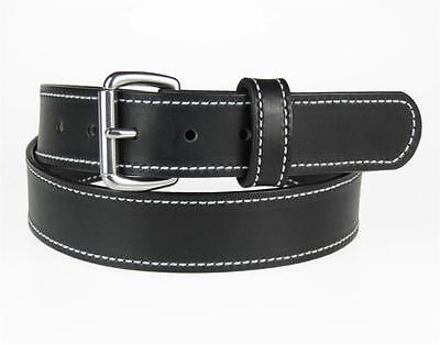 """50SS-ST_1 1/4"""" Wide_STITCHED_LEATHER DRESS_CASUAL BELT_AMISH HANDMADE_NEW 4"""