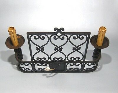 "Large Vintage French Wrought Iron Sconce, ""Chateau"" Style, 19 x 13 inches 6 • CAD $439.74"