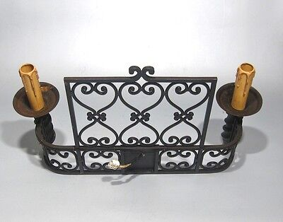 """Large Vintage French Wrought Iron Sconce, """"Chateau"""" Style, 19 x 13 inches 6"""