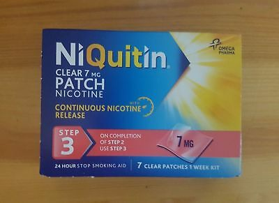 NIQUITIN CLEAR 7mg / 14mg / 21mg Patches X 7 (Choose Strength) 3