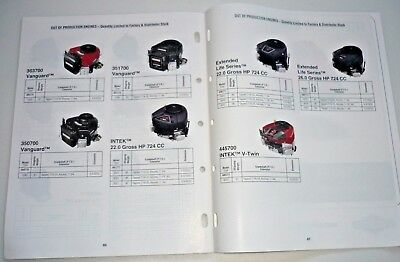 Briggs & Stratton Dealer Engine Sales Replacement Specifications MS-5568-10/09 5