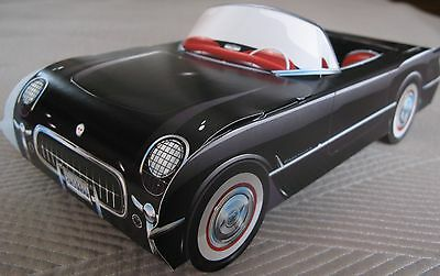 18 Ford Mustang Cardboard Cars Kids Food Serving Tray Party Planner  RED /& BLACK