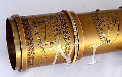 "Antique Maritime Telescope 18"" Marine Nautical Vintage Brass Spyglass Scope Gift 4"