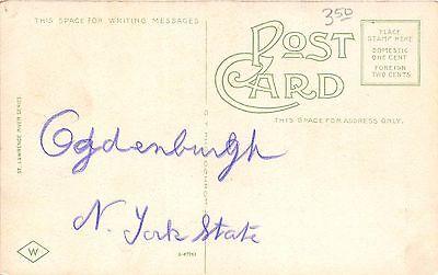 B87/ Ogdensburg New York NY Postcard c1910 Mansion Park Scene